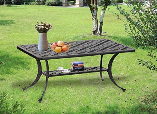 Sparta 21x 42 inch Standard iPatio Outdoor Modern Style Coffee Table