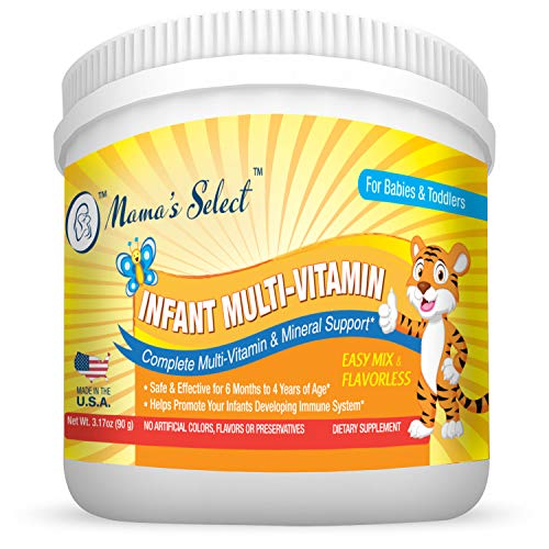 Infant Multi-Vitamins by Mama's Select for Immune Support, Children's Growth & Development, 25-Serving Per Container, No Artificial Colors, Flavors or Preservatives, Natural Baby Vitamins ()