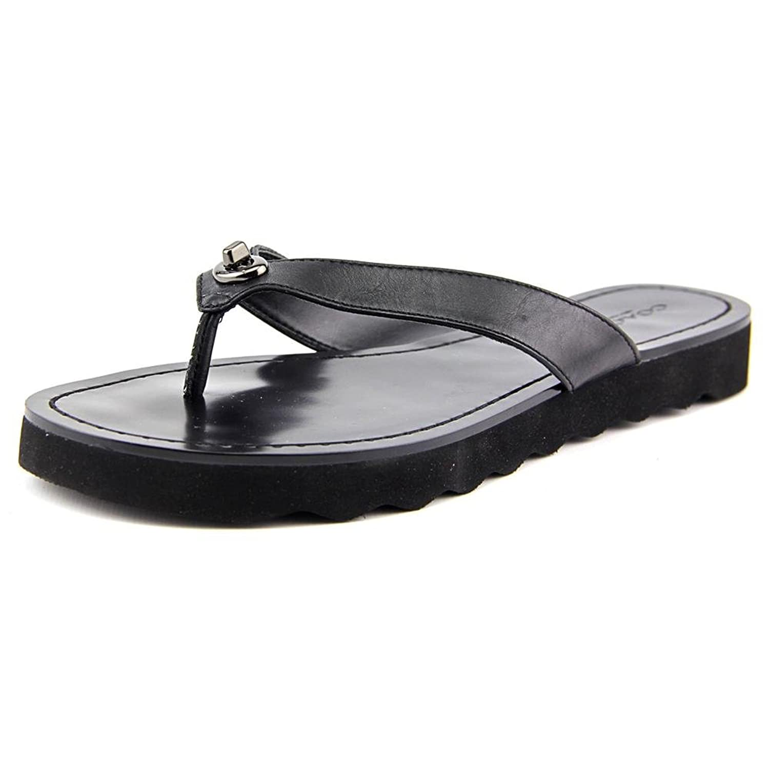Womens Sandals COACH Shelly Black Semi Matte Calf