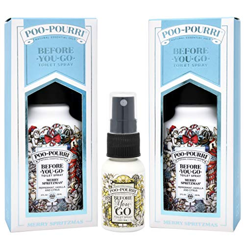Price comparison product image Poo-Pourri Merry Spritzmas 2 Ounce - 2 Pack,  and Original 1 Ounce Bottle