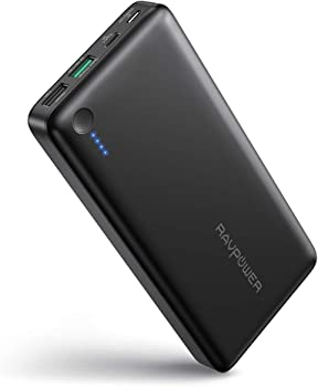 RAVPower 20100mAh USB C Portable Power Bank with QC 3.0
