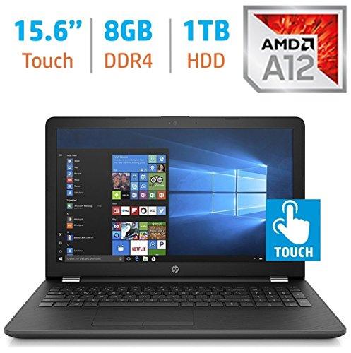 2018 HP Business 15.6-inch HD Touchscreen Laptop PC, Quad-Core AMD A12 Processor up to 3.6GHz, 8GB DDR4 SDRAM, 1TB HDD, Webcam, HDMI, DVD±RW, AMD Radeon R7 graphics, DTS Studio Sound, Windows 10
