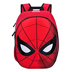 Let your little hero swing into action with this cool Spider-Man Backpack. The design features a full-sized, hard-padded Spidey mask and plenty of room inside for all the latest crime-fighting accessories, including an inner tech sleeve for a...