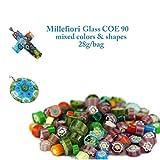 3bags/lot Frit Millefiori Glass & Millefiori Glass