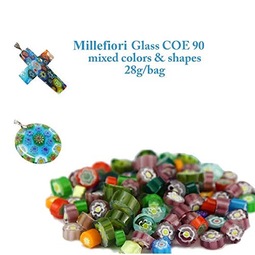 3bags/lot Frit Millefiori Glass & Millefiori Glass Bead Making in Microwave Kiln by POGUT(POGUT)