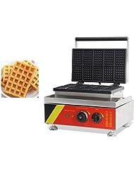 Commercial Electric 10pcs Square Waffle Maker Iron Machine Belgian Waffle Iron Baker 220V