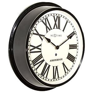 Nextime Amsterdam - Reloj de Pared (Redondo, 40,4 cm), diseño Retro 5