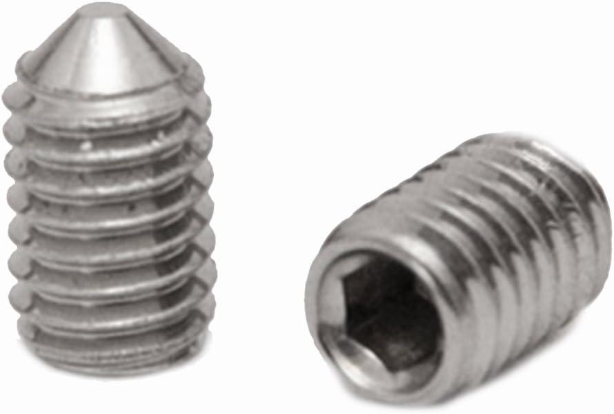 DIN 914 M5 x 8 en acier inoxydable A2 avec  pointe Lot de 10 vis sans t/ête /à six pans creux