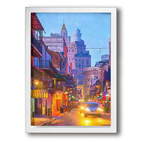- French Quarter New Orleans Louisiana USA Modern Giclee Canvas Print Framed Artwork Pictures Paintings On Wall Art For Home Office Decorations Wall Decor 9