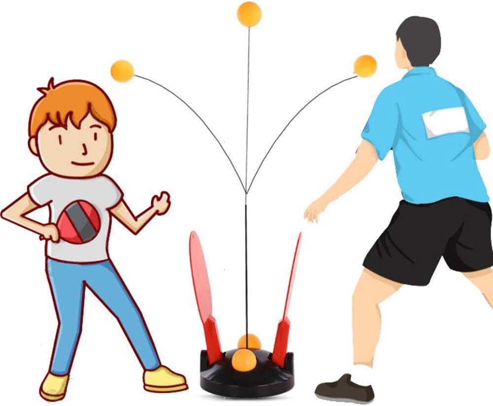 QYWJ Entrenador de Tenis de Mesa, Entrenador de máquina de Pelota de Ping Pong con vástago elástico Suave, Herramientas de Entrenamiento para niños en Interiores o Exteriores