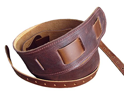 Leather Banjo Cradle Strap. Twin Saints Leather. Made in the USA.