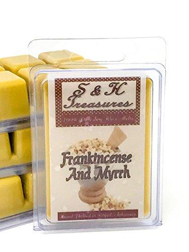 Frankincense & Myrrh - Pure Soy Wax Melts - Essential Oils - 1 pack (6 cubes)