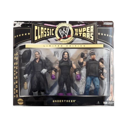 Classic Superstars Wwe Jakks Figure - WWE Jakks Pacific Wrestling Classic Superstars Exclusive Series 3 Action Figure 3Pack 3 Faces of The Undertaker