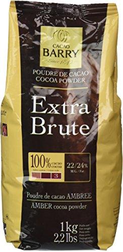 Cacao Barry Cocoa Powder 100% Cocoa Extra Brute, 2.2 (Cacao Extra Dark Chocolate)