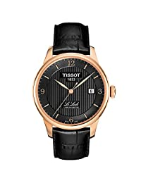 Tissot Men's TIST0064083605700 Le Locle Analog Display Swiss Automatic Black Watch