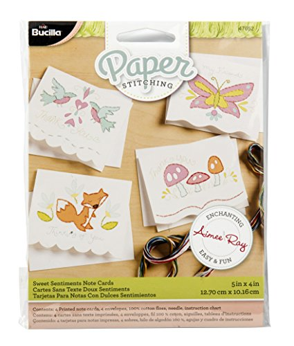Bucilla Teddy Bear (Bucilla Paper Stitching Note Cards, 47652 Sweet Sentiments (Set of)
