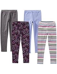 79298dce3 Amazon Brand - Spotted Zebra Girls' Toddler & Kid 4-Pack Leggings
