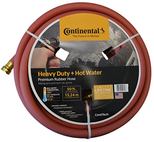 Continental Premium Hot Water Heavy Duty Black EPDM Garden Hose, 5/8