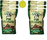Cheap Greenies Pill Pocket Capsule Tablet for Dog (6 Pack) Peanut Butter Flavored Dog Treats (180 Tablets) Bundle with Hotspot Travel Bowl
