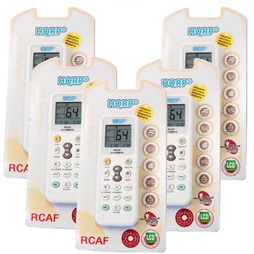 5 Pack /ロットHQRPユニバーサルリモートコントロールと互換性Haier ac-5620 – 04 ac-5620 – 05 ac-5620 – 06 ac-5620 – 16 ac-5620 – 30 ac-5620 – 32エアコン+ HQRPコースター B009CTLFRM