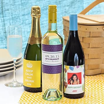 amazon com personalized birthday wine labels health personal care