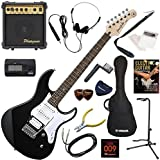 YAMAHA エレキギター 初心者 入門 人気のパシフィカ 10wアンプが入ったスタンダード15点セット PACIFICA112V/BL(ブラック)