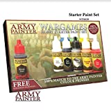 Miniatures Paint Set, 10 Model Paints with FREE Highlighting Brush, 18ml/Bottle, Miniature Painting Kit, Non Toxic Acrylic Paint Set, Wargames Hobby Starter Paint Set by The Army Painter (New Version)