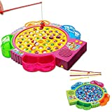 Itian Electric Musical Fishing Toy Fishing Game Board For Children Early Education,42 Pcs