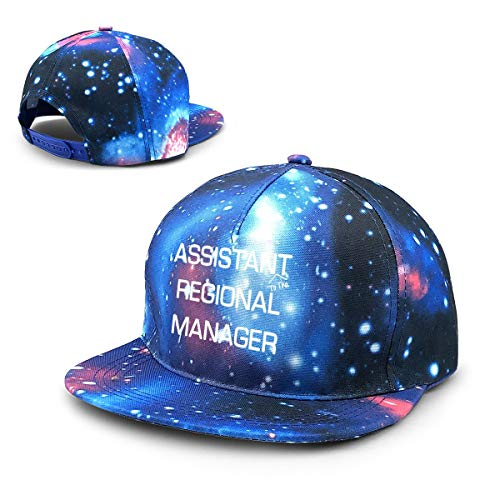 RYHT Galaxy Printed Adjustable Baseball Cap - Assistant (to The) Regional Manager Unisex Hip Hop Snapback Hat Blue