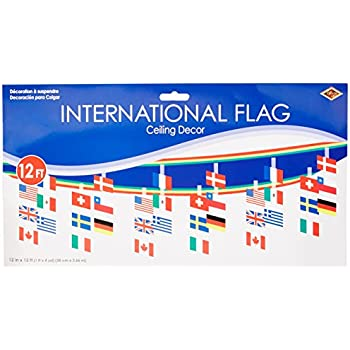 International flag ceiling decor party for Decor products international