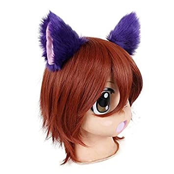 Top Max Cat Ears Hair Clips Barrettes Purple Mixed Pink Hair Pins