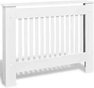 Festnight MDF Radiator Cover Heating Cabinet with a Matte Finish Living Room Furniture Decor White (44