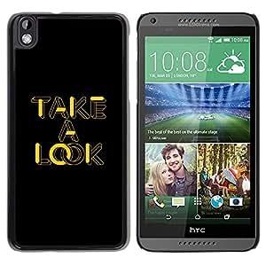 TECHCASE**Cubierta de la caja de protección la piel dura para el ** HTC DESIRE 816 ** Take A Look