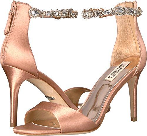 Badgley Mischka Womens Sindy Raso Rosa Scuro Sandalo Con Tacco