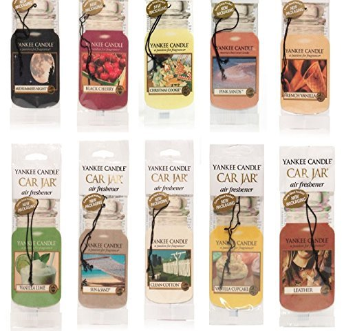 Paper Air Freshener - Yankee Candle Assorted Paper Car Jar Air Fresheners (10 Pack)