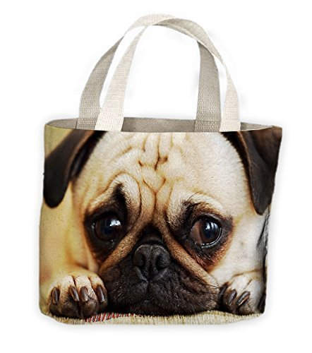 Sac Vie tout Pour Shopping Carlin Chien Visage Fourre 4FPX6xq7