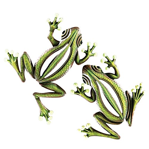Glow In The Dark Hanging Frogs Wall Fence Tree Decor   Set Of 2, Green