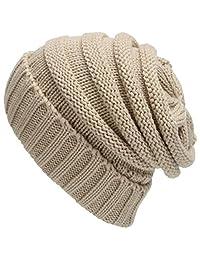 Greenis Unisex Mens Women Winter Warm Hat Knit Outdoors Plush Thickening Knit Cap Ski Hat for Autumn Winter