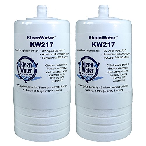 Aqua-Pure AP217 Compatible Filters, KleenWater KW217 Replacement Water Filter Cartridges, Set of 2 (Ap217 Replacement)