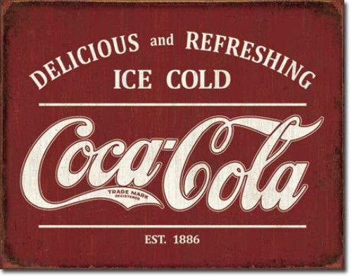 ShopForAllYou Decor Signs Coca Cola Coke Vintage Style Metal Tin Ad Sign Soda Diner Bar Home Decor Gift