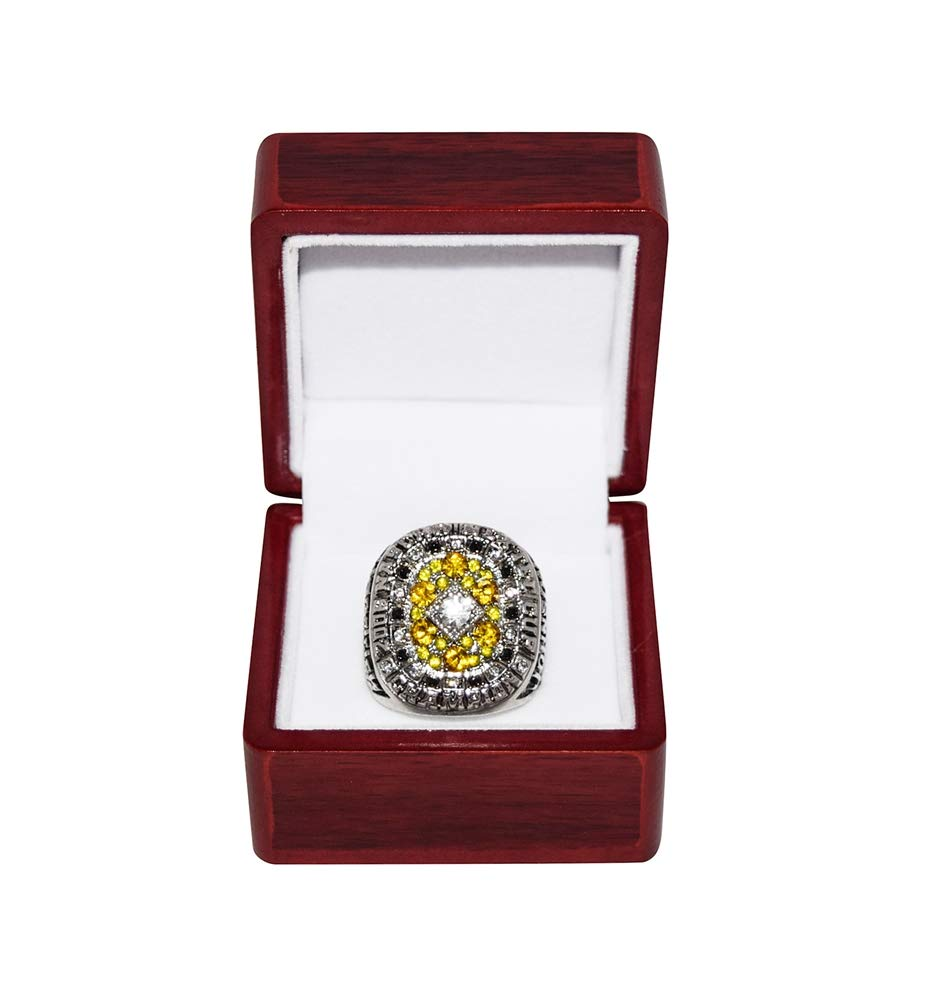 JIMMIE JOHNSON (Hendrick Motorsports) 2006 NASCAR NEXTEL CUP SERIES CHAMPION (#48 Lowes Team) Rare Collectible Replica Silver NASCAR Championship Ring with Cherrywood Display Box