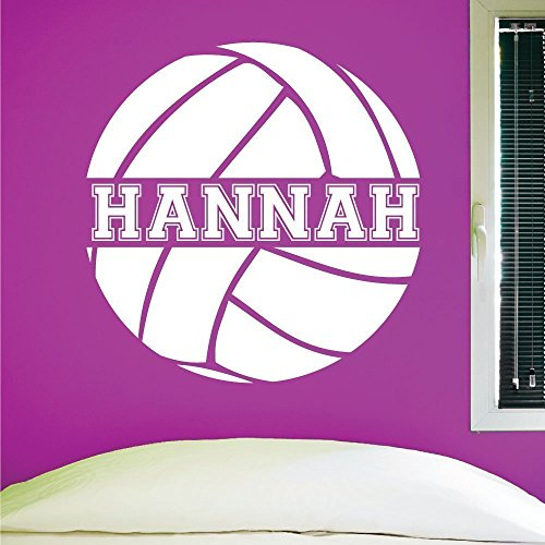 Custom Volleyball Wall Decal, 0058, Personalized Volleyball
