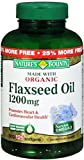 Nature's Bounty Flaxseed Oil 1200 mg Softgels 125 ea (Pack of 10)