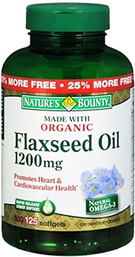 Nature's Bounty Flaxseed Oil 1200 mg Softgels 125 ea (Pack of 10) by Nature's Bounty (Image #1)