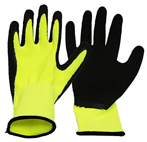 Boss Hi-Vis Multi-Purpose Assembly Gloves - Package Of 12 - Yellow/Black - Large