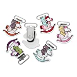 Best Funnytoday365 Pacifiers - Funnytoday365 5Pc Lot 44X31Mm Mixed Color Rocking Horse Review