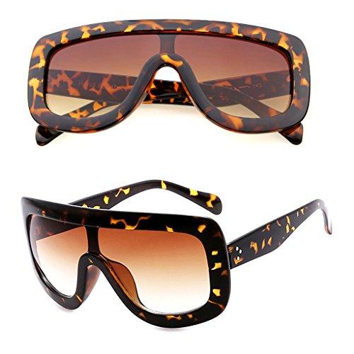 SupremeLife Retro Women Big Frame Square Sunglasses Oversized Shades Eyeglasses (Leopard) (Sunglasses Squares)