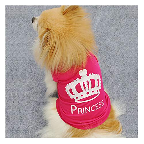 Barode Princess Cute Pet T-Shirt Puppy Costumes Dog cat Vest Clothes for Dogs and Cats (XS)