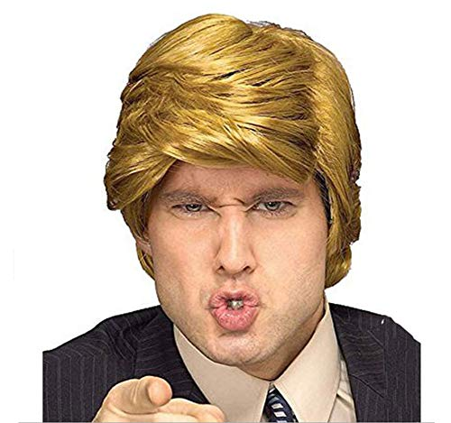 Easyinsmile Costume Wig Cosplay Party Festival Halloween Hairpiece Wigs for Talk Shows Host, Boss, Politician, President Costumes Adults ()