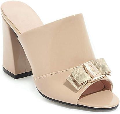 Mules Dress Pumps Chunky Heeled Sandal
